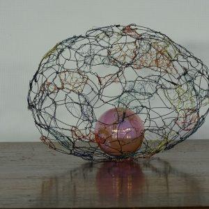 wire sculpture-egg