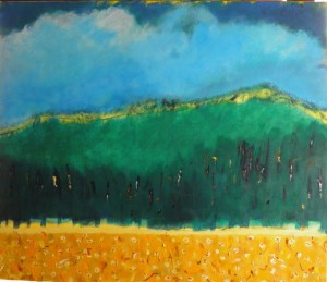 Townsville  Acrylic and watercolour sticks on canvas100x85cm